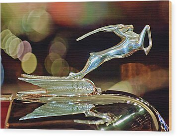 1932 Chrysler Imperial Hood Ornament 1 Wood Print by Jill Reger
