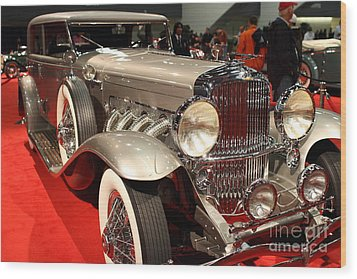 1932 Duesenberg Sj Turing Front Angle Wood Print by Wingsdomain Art and Photography
