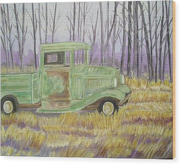 1932  Greenford Pickup Truck Wood Print by Belinda Lawson