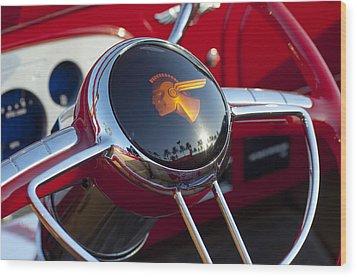 1933 Pontiac Steering Wheel Wood Print by Jill Reger