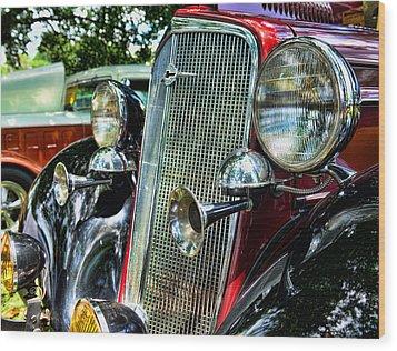 1934 Chevrolet Head Lights Wood Print by Paul Ward