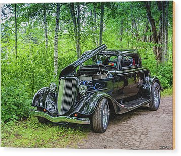 1934 Ford 3 Window Coupe Wood Print by Ken Morris