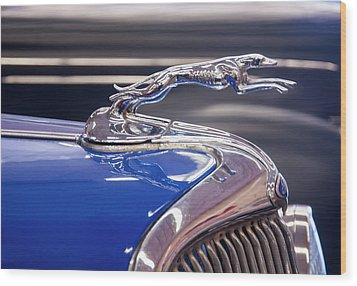 Wood Print featuring the digital art 1934  Ford Greyhound Hood Ornament by Chris Flees