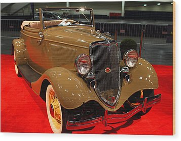 1934 Ford Model 40 Deluxe Cabriolet Wood Print by Wingsdomain Art and Photography