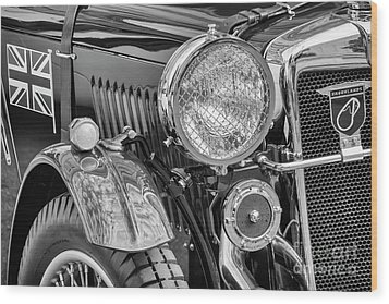 Wood Print featuring the photograph 1934 Mg Pa Roadster by Dennis Hedberg