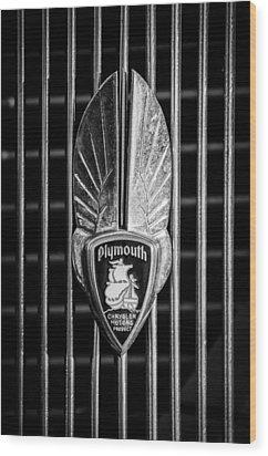 1934 Plymouth Emblem 2 Wood Print by Jill Reger