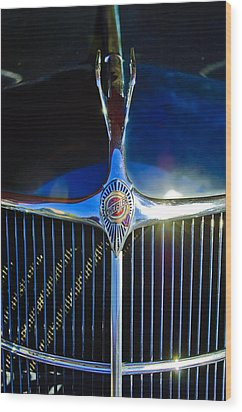 1935 Chrysler Hood Ornament 2 Wood Print by Jill Reger