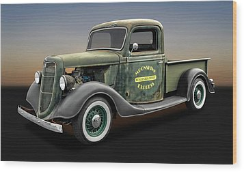 1935 Ford Pickup Truck  -  1935fordtruck9735 Wood Print by Frank J Benz