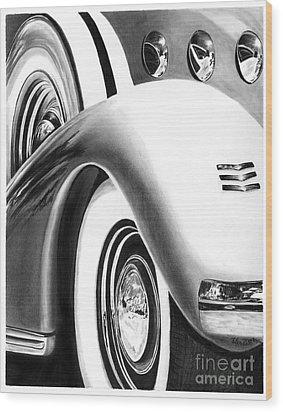 1935 Lasalle Abstract Wood Print by Peter Piatt