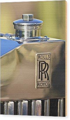 1935 Rolls-royce Phantom II Hood Ornament Wood Print by Jill Reger