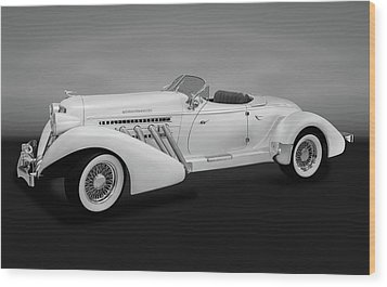 Wood Print featuring the photograph 1936 Auburn Supercharged Speedster Convertible  -  1936auburnsuperchargedgry170552 by Frank J Benz