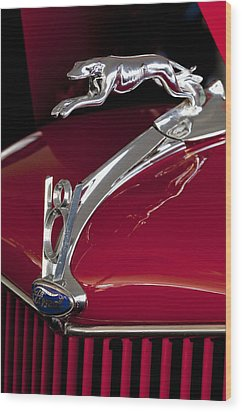 1936 Ford 68 Pickup Hood Ornament Wood Print by Jill Reger