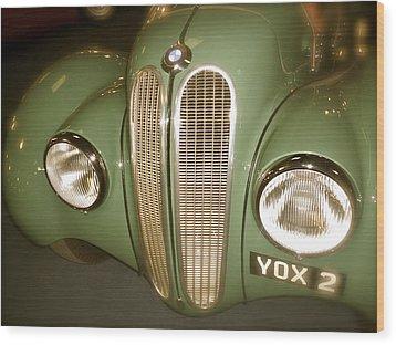 1937 Bmw 328 Front Detail Wood Print