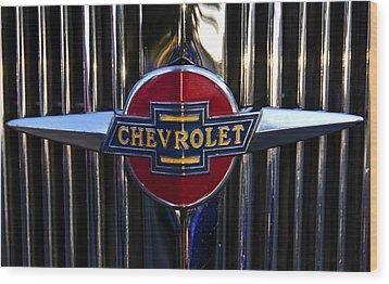 1937 Chevy Star Wood Print by David Lee Thompson