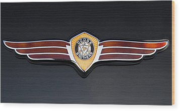 1937 Dodge Brothers Emblem Wood Print by Roger Mullenhour