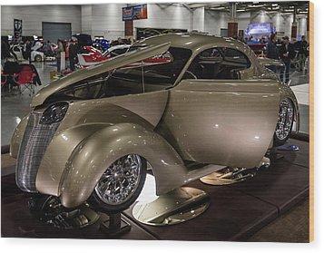 1937 Ford Coupe Wood Print by Randy Scherkenbach