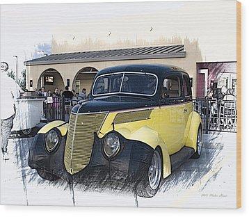 1937 Ford Deluxe Sedan_a2 Wood Print