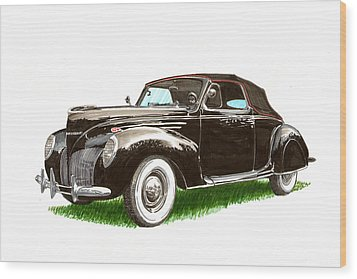 1937 Lincoln Zephyer Wood Print by Jack Pumphrey