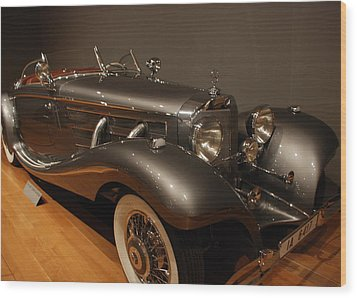 1937 Mercedes Benz 540 Special Roadster Wood Print by Renee Holder