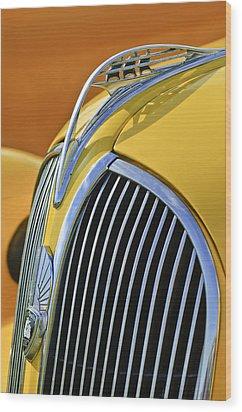 1937 Plymouth Hood Ornament 2 Wood Print by Jill Reger