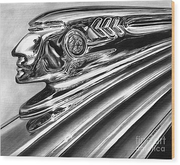 1937 Pontiac Chieftain Abstract Wood Print by Peter Piatt