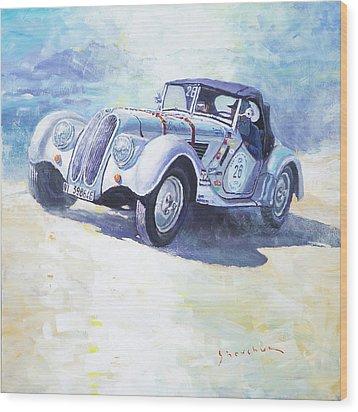 1938 Bmw 328 Roadster Caracciola Gp 2016 Winner Wood Print by Yuriy Shevchuk