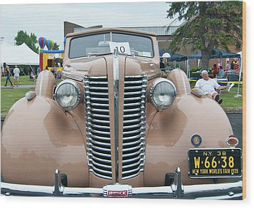 1938 Buick 2087 Wood Print by Guy Whiteley