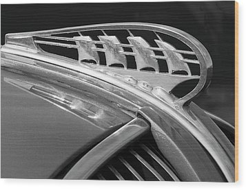 1938 Plymouth Hood Ornament 2 Wood Print by Jill Reger