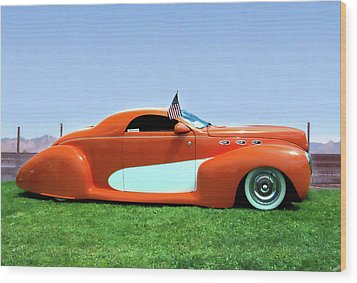 1939 Lincoln Zephyr Coupe Wood Print