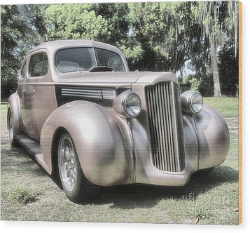 1939 Packard Coupe Wood Print by Richard Rizzo