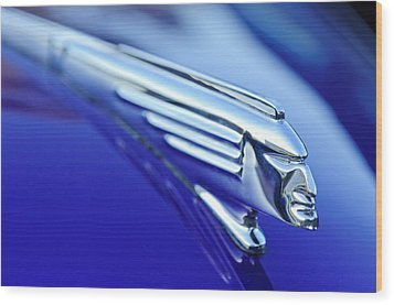 1939 Pontiac Coupe Hood Ornament 4 Wood Print by Jill Reger