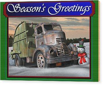1940 Gmc Christmas Card Wood Print by Stuart Swartz