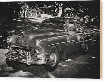 1940s Police Car Wood Print by Paul Seymour