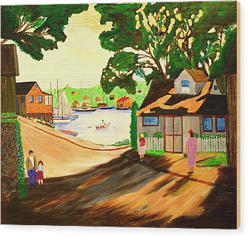 1940s Smith Cove From Rocky Neck Gloucester Ma Wood Print