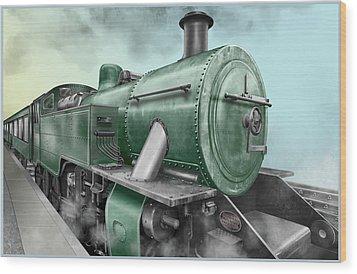 1940's Steam Train Wood Print