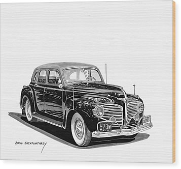 Wood Print featuring the painting 1941 Dodge Town Sedan by Jack Pumphrey