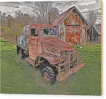 1941 Dodge Truck #2 Wood Print by Mark Allen