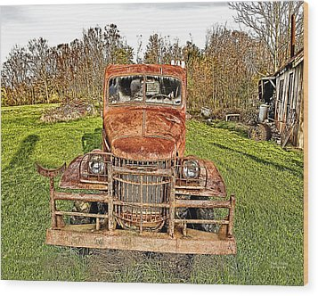 1941 Dodge Truck 3 Wood Print by Mark Allen