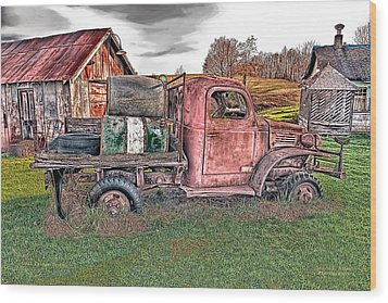 1941 Dodge Truck Wood Print by Mark Allen