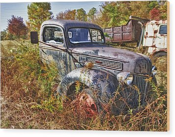 1941 Ford Truck Wood Print by Mark Allen