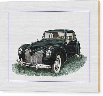 1941 Lincoln Continental Mk 1 Wood Print by Jack Pumphrey