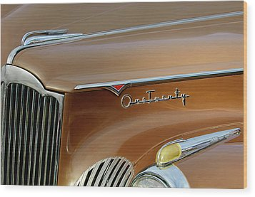 1941 Packard Hood Ornament 2  Wood Print by Jill Reger