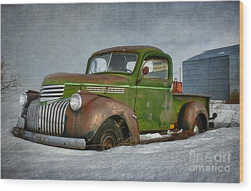 1946 Chevy Truck Wood Print by Beve Brown-Clark Photography