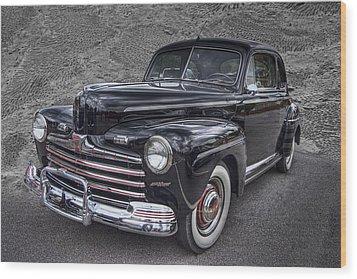 1946 Ford Wood Print by Debra and Dave Vanderlaan