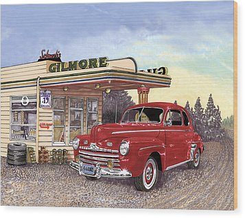 1946 Ford Deluxe Coupe Wood Print by Jack Pumphrey