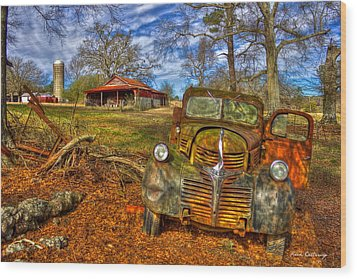 1947 Dodge Dump Truck Country Scene Art Wood Print by Reid Callaway