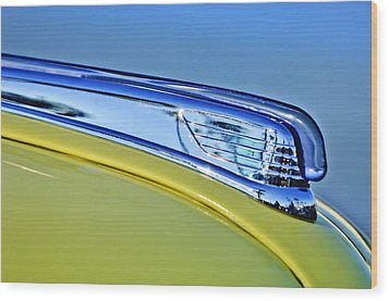 1947 Ford Super Deluxe Hood Ornament 2 Wood Print by Jill Reger
