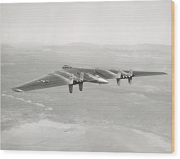 Wood Print featuring the photograph 1947 Northrop Flying Wing by Historic Image