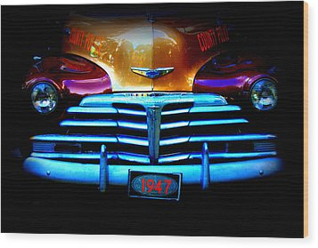 1947 Police Car Wood Print by Dana  Oliver