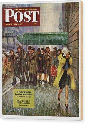 1947 Saturday Evening Post Magazine Cover Wood Print